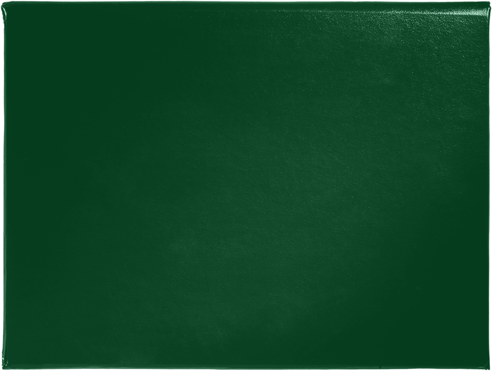 8 1/2 x 11 Diploma Cover - Padded Dark Green