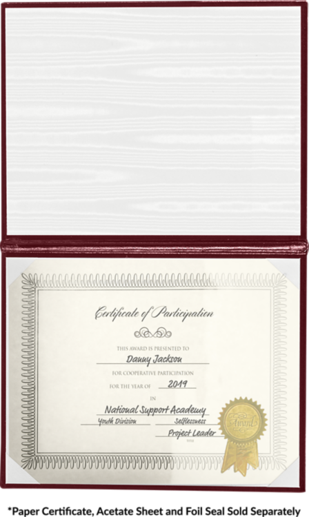 8 1/2 x 11 Diploma Cover - Padded Maroon