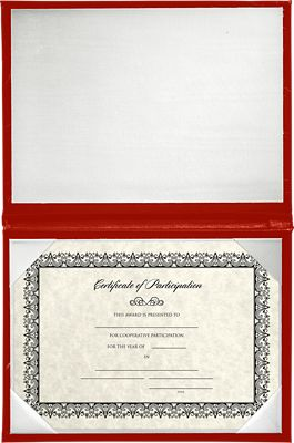 5 x 7 Diploma Cover - Padded Red