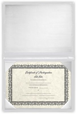 5 x 7 Diploma Cover - Padded White