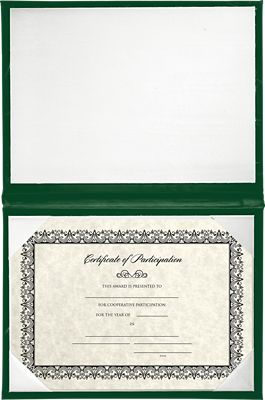 6 x 8 Diploma Cover - Padded Green