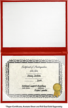 6 x 8 Diploma Cover - Padded Red