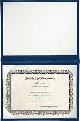 6 x 8 Diploma Cover - Padded Royal Blue