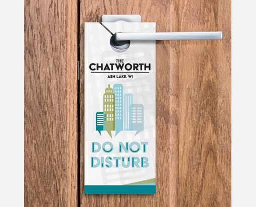 3 1/2 x 8 1/2 Full Color Door Hanger 1 Sided White