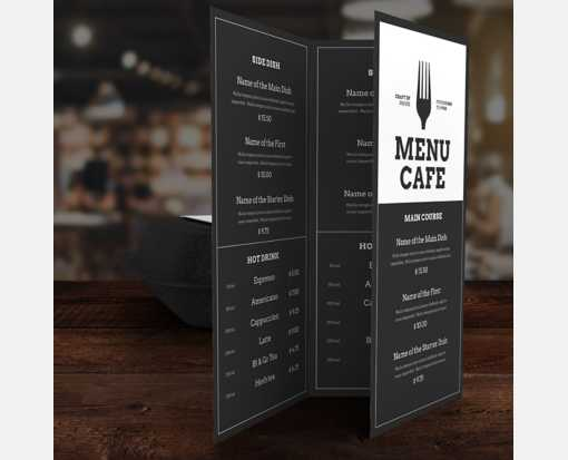 8 1/2 x 11 Tri-Fold 2 Sided Sided Disposable Menu White 6mil. (Tri Fold)