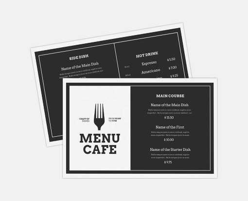 12 x 18 Sheet 2 Sided Disposable Menu White 6 mil. (2 Sided)