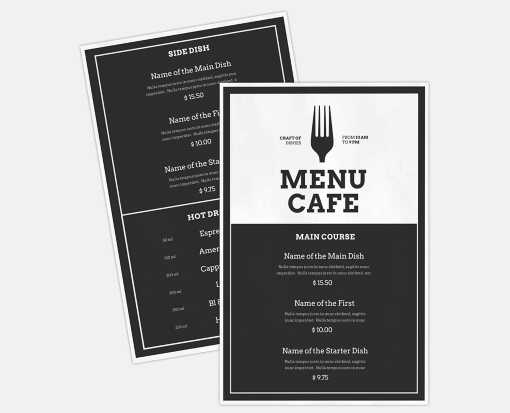 5 1/2 x 8 1/2  2 Sided Disposable Menu - White Gloss 100lb. Paper White Gloss (2 Sided)