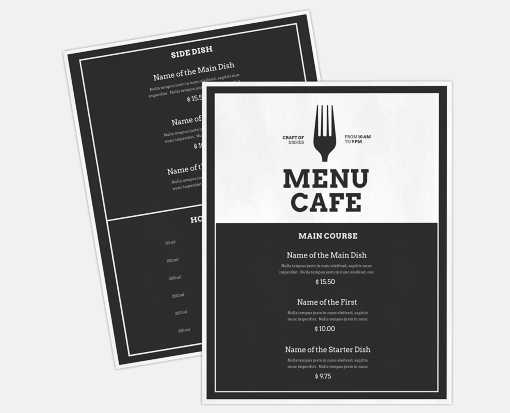 8 1/2 x 11 2 Sided Disposable Menu - White Gloss 100lb. Paper White Gloss (2 Sided)