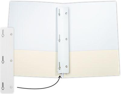 Tang Strip Fastener - 3 Prong White