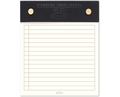 5 x 6 Standard Issue Post Bound Notepad - Black Black