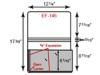 "Portfolio - One Pocket w/ 5/8"" Expansion (12 1/4"" x 8 11/16"")"
