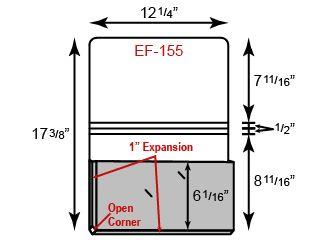 "Portfolio - One Pocket w/ 1"" Expansion (12 1/4"" x 8 9/16"")"