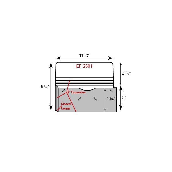 """Portfolio - One Pocket w/ 2"""" Gusset (12"""" x 9"""")"""