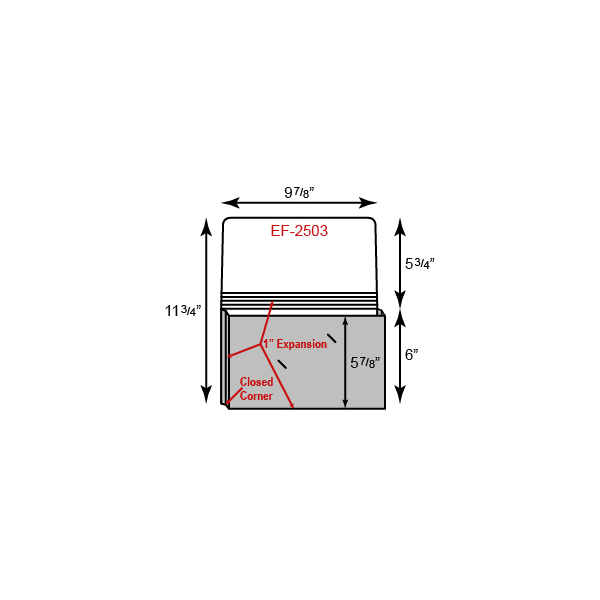 "Small Portfolio - Expansion Pocket w/ 1"" Sealed Gusset (9 7/8"" x 6"")"