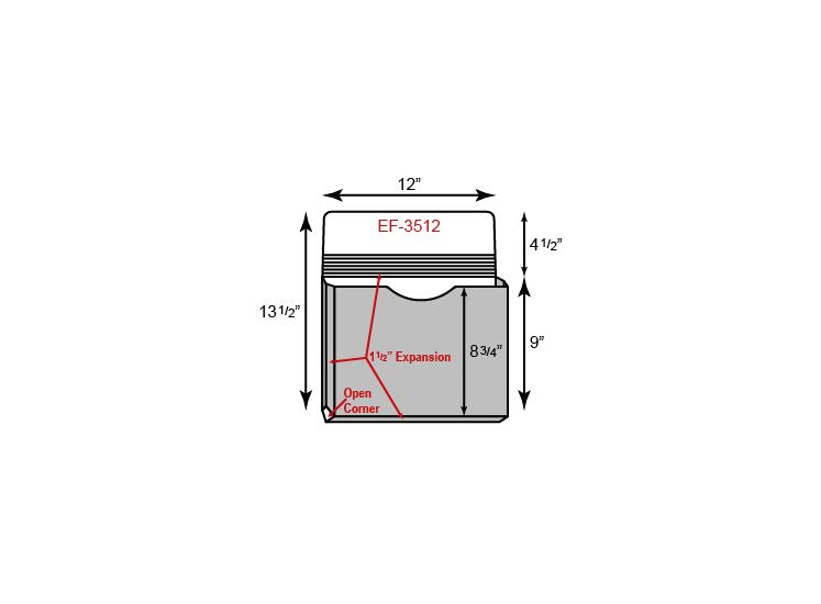 "Portfolio - One Pocket w/ 1.5"" Unsealed Gusset (12"" x 9"")"