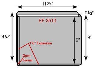 """Expansion File Folder - 1.5"""" Unsealed Gusset (11 3/4"""" x 9 1/2"""")"""