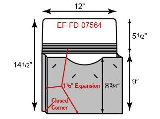 "Portfolio - One Pocket w/ 1 1/2"" Expansion (12"" x 9"")"
