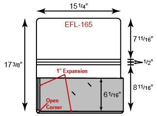 "Legal Size Portfolio - One Pocket w/ 1"" Expansion (15"" x 10"")"