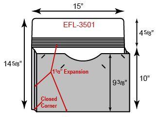 "Legal Size Portfolio - One Pocket w/ 1.5"" Sealed Gusset  (15"" x 10"")"
