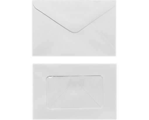 #56 Mini Window Envelope (3 x 4 1/2) White