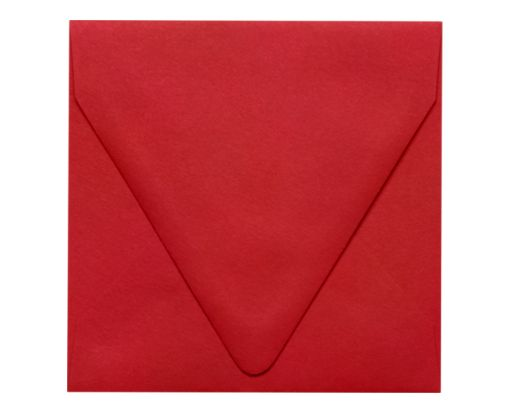 5 x 5 Square Contour Flap Envelopes Ruby Red