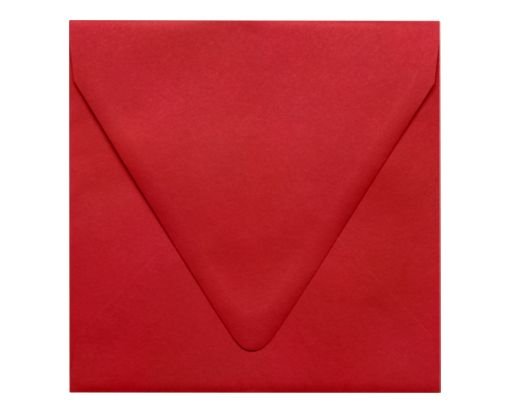 6 1/2 x 6 1/2 Square Contour Flap Envelopes Ruby Red