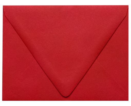 A2 Contour Flap (4 3/8 x 5 3/4)  Ruby Red
