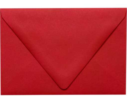 A4 Contour Flap Envelopes (4 1/4 x 6 1/4) Ruby Red