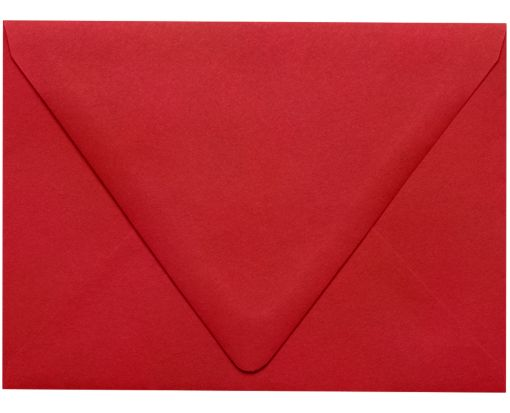 A6 Contour Flap Envelopes (4 3/4 x 6 1/2) Ruby Red