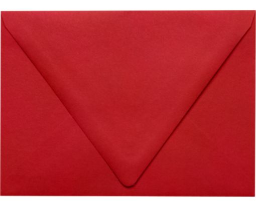 A7 Contour Flap Envelopes (5 1/4 x 7 1/4) Ruby Red