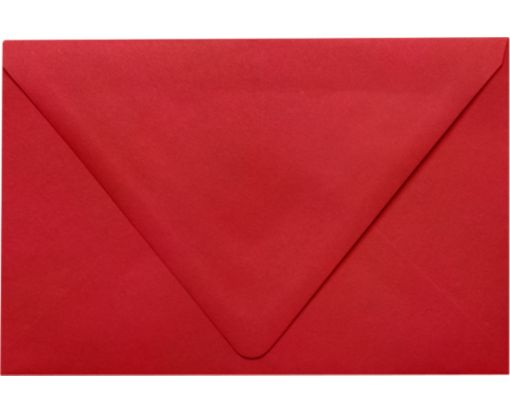 A9 Contour Flap Envelopes (5 3/4 x 8 3/4) Ruby Red