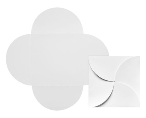 6 1/4 x 6 1/4 Petal Invitations 80lb. Bright White