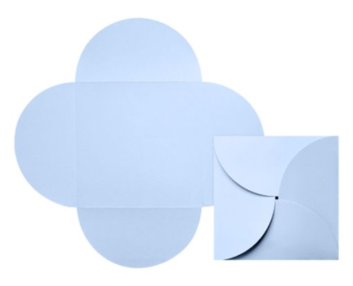 6 1/4 x 6 1/4 Petal Invitations Baby Blue