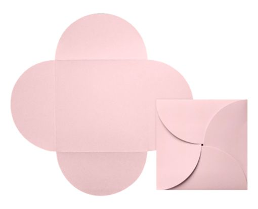 6 1/4 x 6 1/4 Petal Invitations Candy Pink