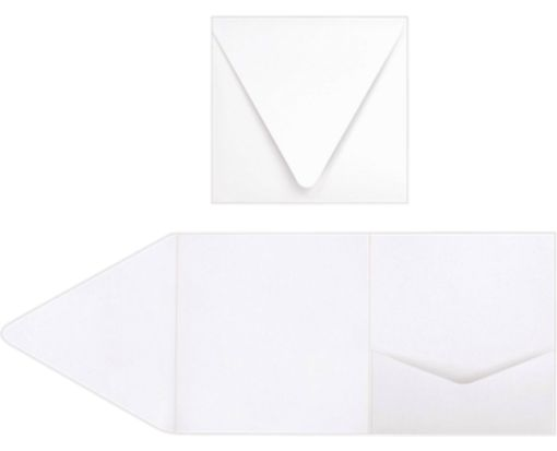 6 x 6 Pocket Invitations 80lb. Bright White