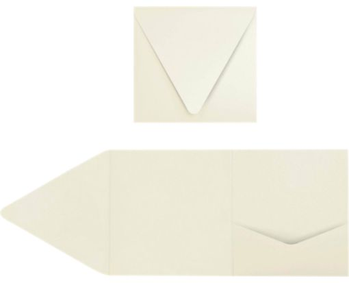 6 x 6 Pocket Invitations Natural