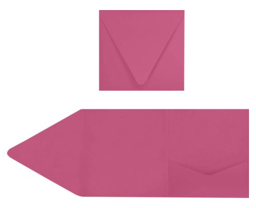 6 x 6 Pocket Invitations Magenta