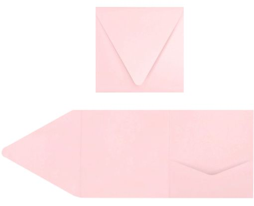 6 x 6 Pocket Invitations Candy Pink