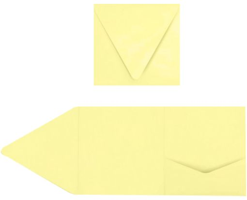 6 x 6 Pocket Invitations Lemonade