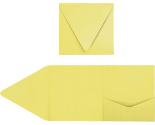 6 x 6 Pocket Invitations Split Pea