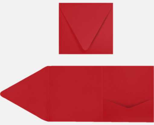 6 x 6 Pocket Invitations Ruby Red