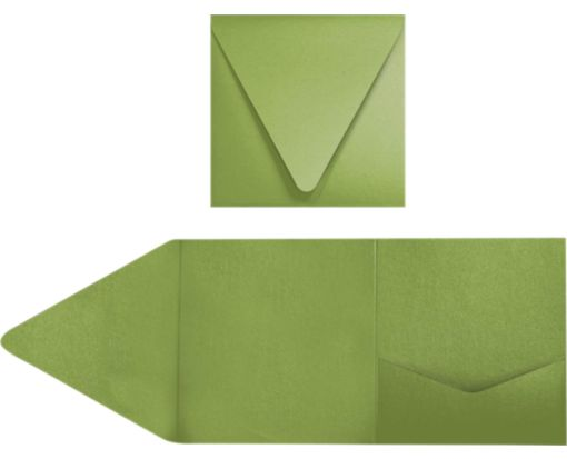 6 x 6 Pocket Invitations Avocado