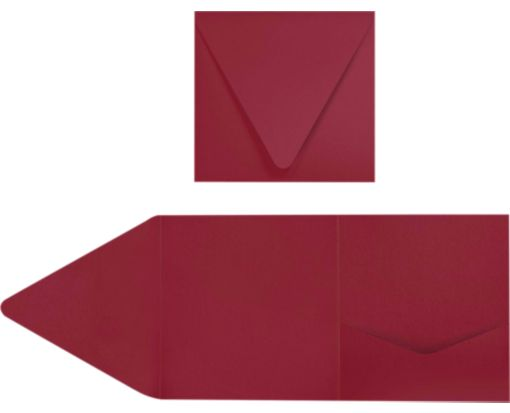 6 x 6 Pocket Invitations Garnet