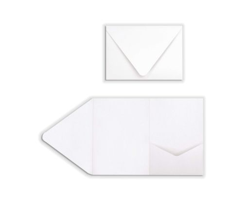 A7 Pocket Invitations (5 x 7) 80lb. Bright White