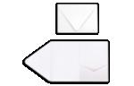 A7 Pocket Invitations 80lb. Bright White