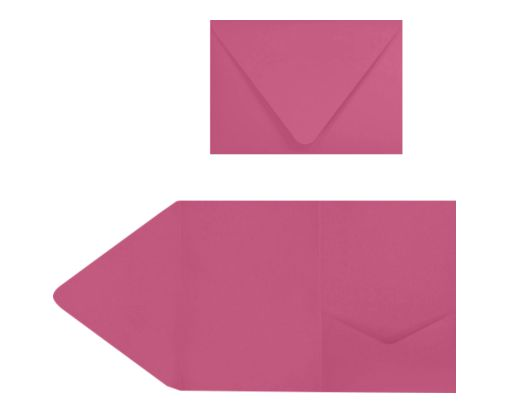 A7 Pocket Invitations (5 x 7) Magenta