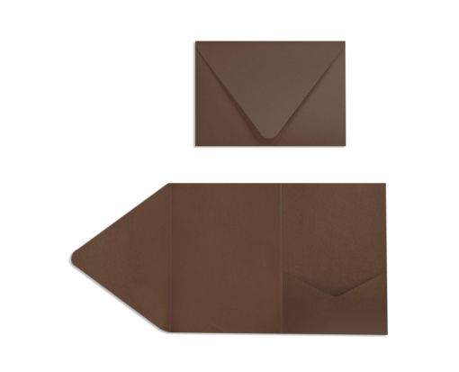 A7 Pocket Invitations (5 x 7) Chocolate