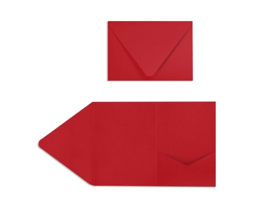 A7 Pocket Invitations (5 x 7) Ruby Red