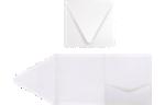 6 x 6 Pocket Invitations Crystal Metallic
