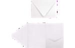 A7 Pocket Invitations Crystal Metallic